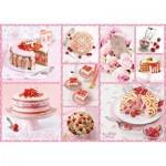 Puzzle  Schmidt-Spiele-59576 Gâteaux Roses du Bonheur