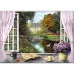 Puzzle  Schmidt-Spiele-59590 Dominic Davison - Vue sur le Jardin du Château