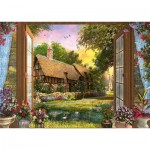 Puzzle  Schmidt-Spiele-59591 Dominic Davison - Vue sur le Cottage