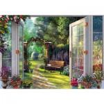 Puzzle  Schmidt-Spiele-59592 Dominic Davison - Vue sur le Jardin Hanté
