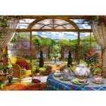 Puzzle  Schmidt-Spiele-59593 Dominic Davison - Vue sur le Jardin