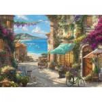 Puzzle  Schmidt-Spiele-59624 Thomas Kinkade - Café sur la Côte Italienne