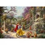 Puzzle  Schmidt-Spiele-59625 Thomas Kinkade, Disney, Blanche-Neige - Danse avec le Prince