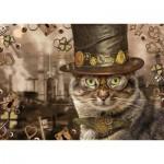 Puzzle  Schmidt-Spiele-59644 Markus Binz - Steampunk Cat