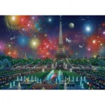 Puzzle  Schmidt-Spiele-59651 Alexander Chen, Feux d'Artifice à la Tour Eiffel