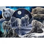 Puzzle  Schmidt-Spiele-59666 Lisa Parker - Magnifiques Loups