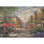 Puzzle  Schmidt-Spiele-59675 Thomas Kinkade, Café à Munich