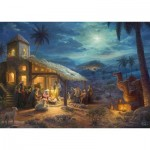 Puzzle  Schmidt-Spiele-59676 Thomas Kinkade, Spirit, la Naissance de Jésus