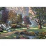 Puzzle  Schmidt-Spiele-59677 Thomas Kinkade, Esprit, Voie de la Foi