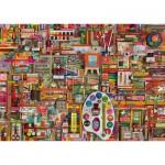 Puzzle  Schmidt-Spiele-59698 Shelley Davies - Matériel d'Artiste Vintage