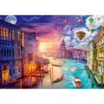 Puzzle  Schmidt-Spiele-59906 Lars Stewart - Venise - Night and Day