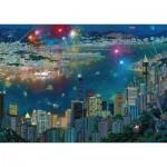 Puzzle   Alexander Chen - Feux d'Artifice sur Hong Kong