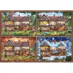 Puzzle   Maison aux Différentes Saisons