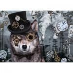Puzzle   Steampunk Wolf