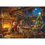 Puzzle   Thomas Kinkade - Santa Claus and His Secret Helper