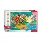 Puzzle  Step-Puzzle-73006 Le Lion et la Tortue