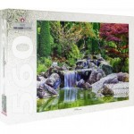Puzzle  Step-Puzzle-78103 Waterfall At Japanese Garden, Bonn, Germany