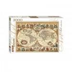 Puzzle  Step-Puzzle-84003 Vieille Carte du Monde