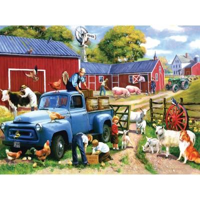 Puzzle Sunsout-13718 Spring Farm Days