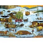 Puzzle  Sunsout-14089 Pièces XXL - Logging Camp