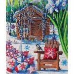 Puzzle  Sunsout-14606 Diane Phalen - Mountain Cabin Fever