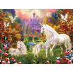 Puzzle  Sunsout-15960 Pièces XXL - Castle Unicorns