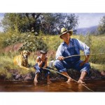 Puzzle  Sunsout-16836 Pièces XXL - Fishing With Grandpa