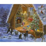 Puzzle  Sunsout-19302 Jane Maday - Christmas Cabin