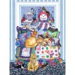 Puzzle  Sunsout-20206 Wendy Edelson - Winter Quilt