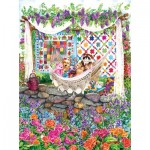 Puzzle  Sunsout-20219 Wendy Edelson - Garden Hammock