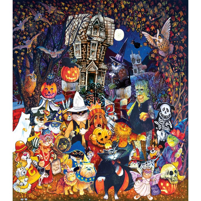 Pièces XXL - Cats and Dogs on Halloween