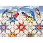 Puzzle  Sunsout-24210 Pièces XXL - Feathered Stars