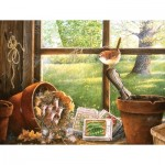 Puzzle  Sunsout-24631 Pièces XXL - Garden Shed Seedlings
