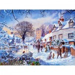 Puzzle  Sunsout-25974 Steve Crisp - A Village in Winter