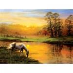 Puzzle  Sunsout-26291 Karla Mann - Pastoral Moment