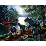 Puzzle  Sunsout-28368 pièces XXL - James Meger - Bear Moon