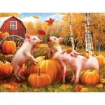 Puzzle  Sunsout-28657 Pièces XXL - Pigs & Pumpkins
