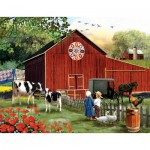 Puzzle  Sunsout-28727 Pièces XXL - Tom Wood - Serenity in the Country