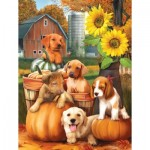 Puzzle  Sunsout-28767 Pièces XXL - Autumn Puppies