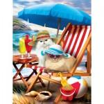Puzzle  Sunsout-28865 Pièces XXL - Beach Cats