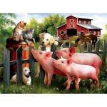 Puzzle  Sunsout-28870 Pièces XXL - Making New Friends