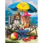 Puzzle  Sunsout-28884 Pièces XXL - Beach Dogs
