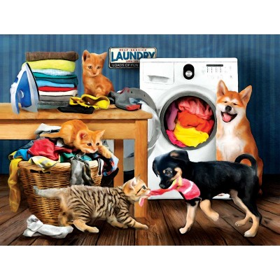 Puzzle Sunsout-28930 Pièces XXL - Laundry Room Laughs