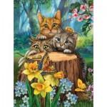 Puzzle  Sunsout-28948 Pièces XXL - Tom Wood - Fraidy Cats