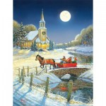 Puzzle  Sunsout-29027 Pièces XXL - Evening Sleigh