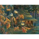 Puzzle  Sunsout-29034 Pièces XXL - Cabin Chickadees