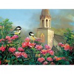 Puzzle  Sunsout-29090 Pièces XXL - Wedding Bell Chickadees