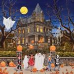 Puzzle  Sunsout-30425 William Vanderdasson - Beware Haunted House