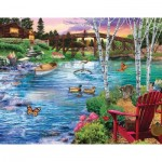 Puzzle  Sunsout-31481 Bridge Fishing