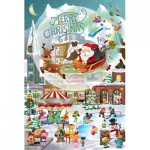 Puzzle  Sunsout-32210 Legacy Tree - A Christmas Village for All Ages